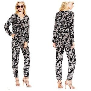 Vince Camuto Long Sleeve Floral Burst Jumpsuit